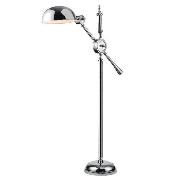 Vintage Task Floor Lamp with Chrome Finish