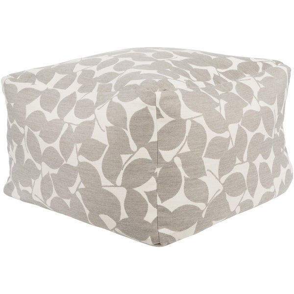 Leaves Abi Square Acrylic Pouf