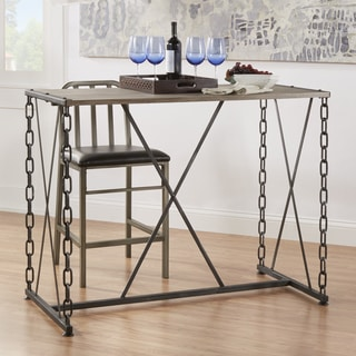 TRIBECCA HOME Blake Counter-height Metal Chain Link Table