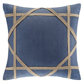 Harbor House St. Tropez Trim Taping Cotton Square 18-inch Throw Pillow