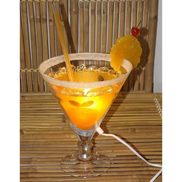 Orange Sunrise Cocktail Lamp