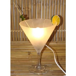 Frosty Martini Glass Table Lamp