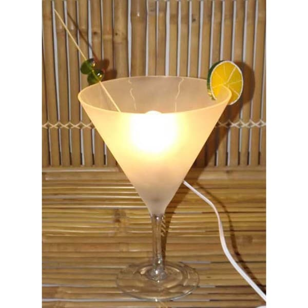 Frosty Martini Glass Lamp