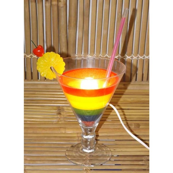 Rainbow Cocktail Glass Lamp