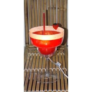 Strawberry Magarita Glass Lamp
