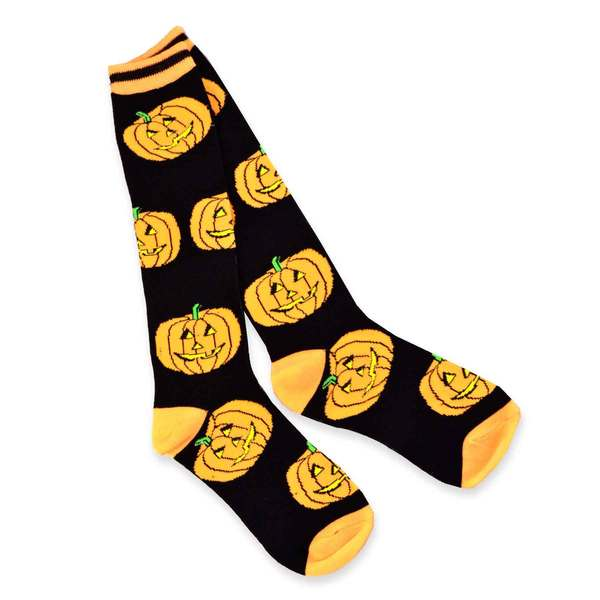 Halloween Fun Socks Women's Crew Knee High Sock Single Pair (11248-P08B)-P08A)