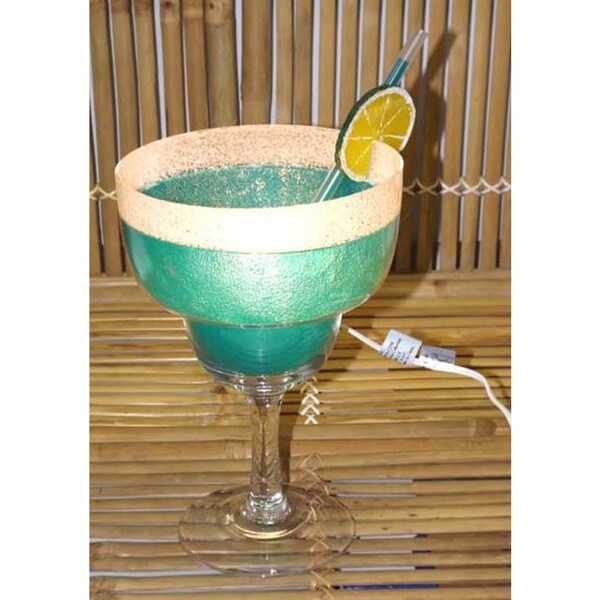 Blue Margarita Glass Lamp