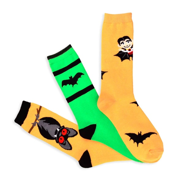 Halloween Socks - Batty Women's 3-pair Pack Women's Crew Socks