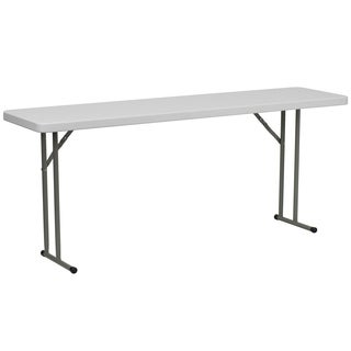 18-inch x 72-inch Granite White Plastic Folding Training Table