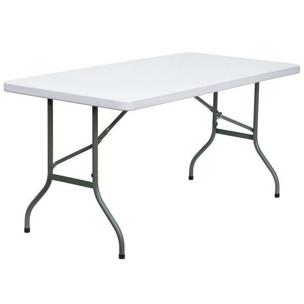 White 30-inch Plastic Folding Table