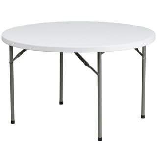 48-inch White Plastic Folding Table