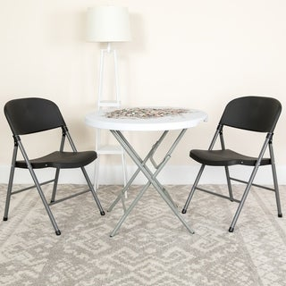 Black, Grey Folding Chair