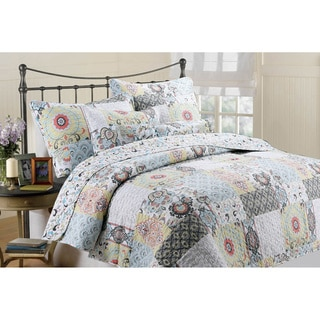 Moorea Cotton Patchwork 3-piece Quilt Set
