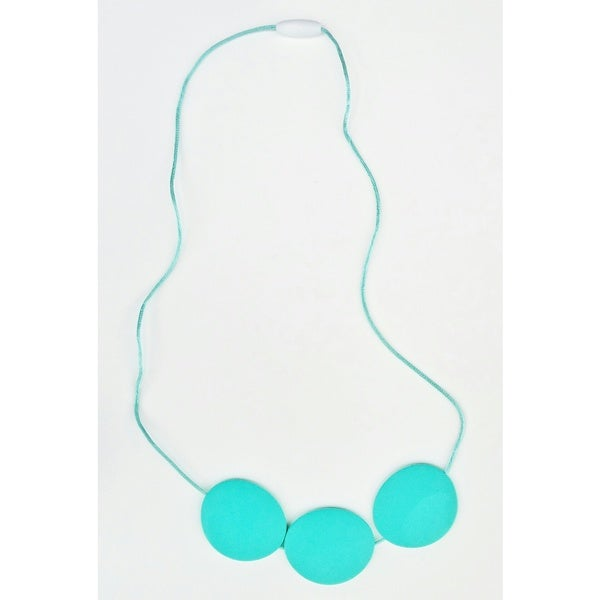 Pretty Little Stye Turquoise BPA Free Silicone Circle Teething Necklace