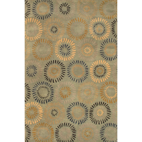 ABC Accents Fergana Soraya Green Wool Rug