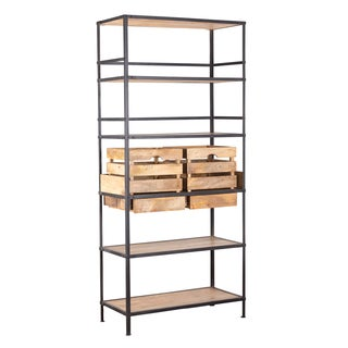 Mixed Material Shelf with Box Set