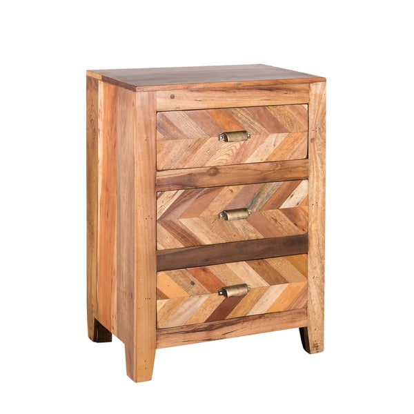 Kendrick Bedside Table with Mixed Wood (India)