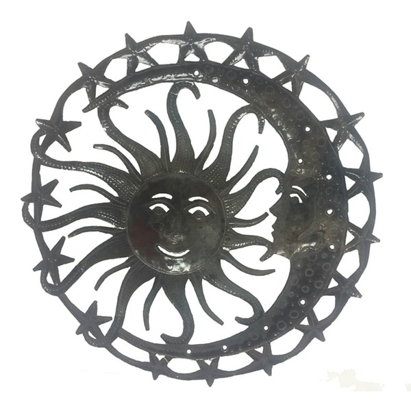 Ethereal Sun in Moon Wall Art (Haiti)