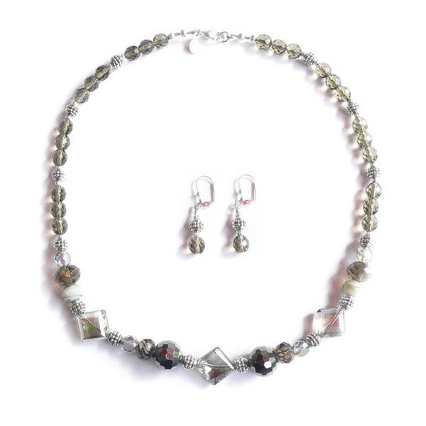 "Palmtree Gems ""3 of Diamonds"" Necklace and Earring Set 16381392"