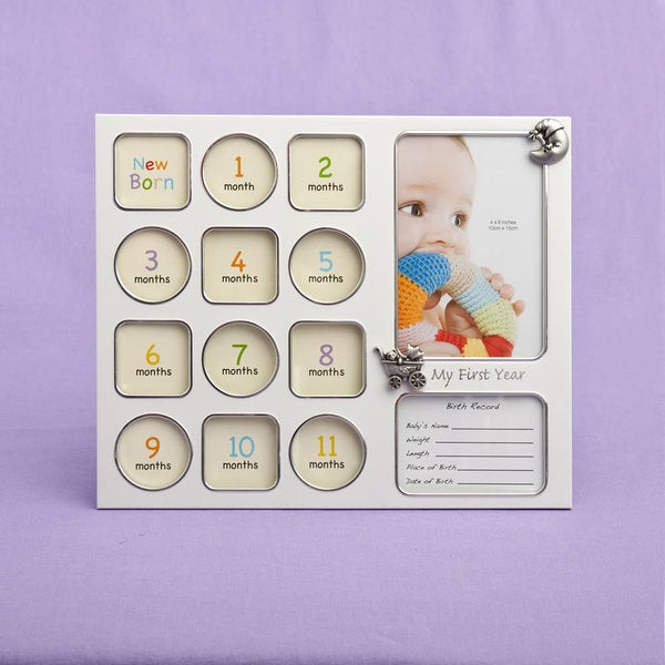 Fashioncraft 'My First Year' Baby Photo Collage Frame