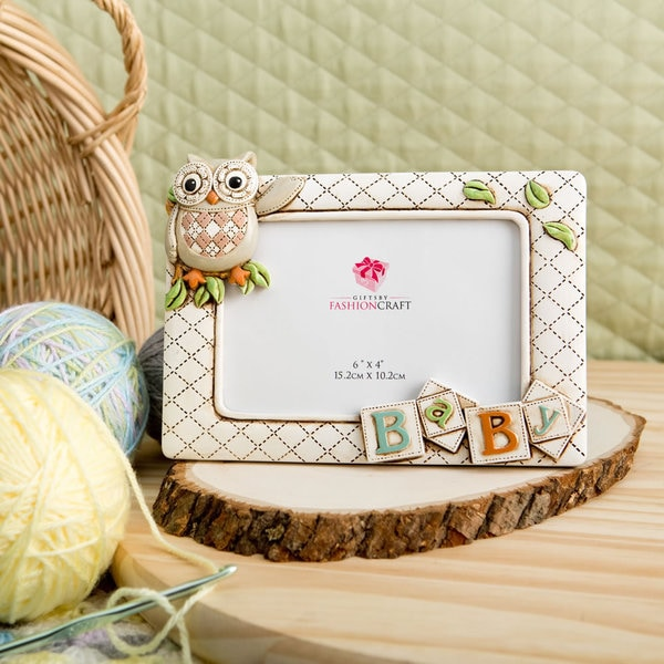 Fashioncraft Neutral Baby Owl Frame