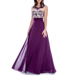 Decode 1.8 Women's Beaded Illusion Dress