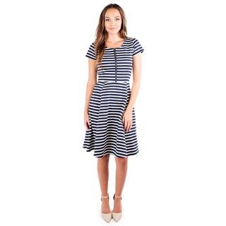 DownEast Basics Women's Sunset Stripe Dress
