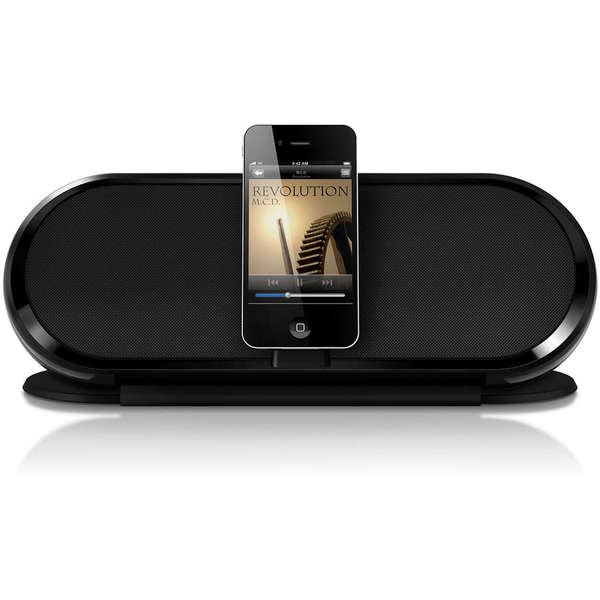 Philips Fidelio DS7650/37 Compact Internet Radio/ Alarm Clock Speaker Dock with 30-pin Charging for Apple Devices