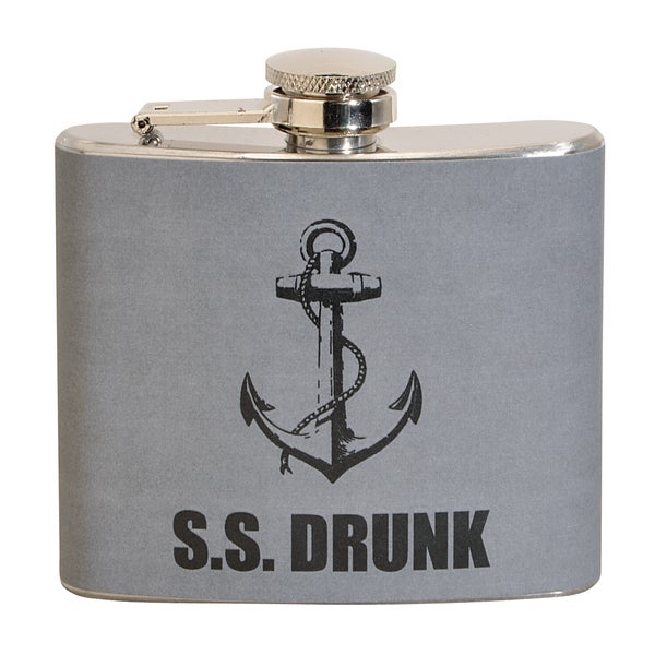 S.S. Drunk Fun 5-ounce Grey Party Flask 16381735