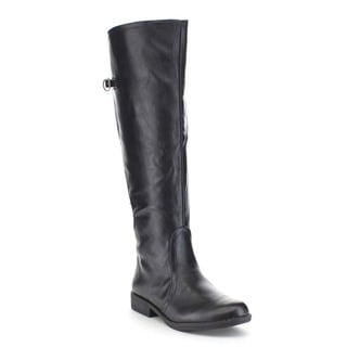 Beston Women's Buckle Detail Elastic Back Knee High Riding Boots
