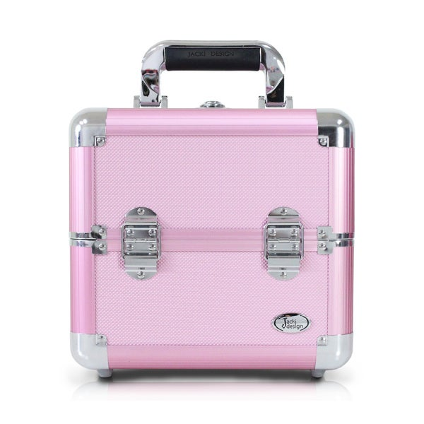 Jacki Design Pink Aluminum Make Up Train Case