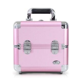 Jacki Design Pink Aluminum Make Up Train Case