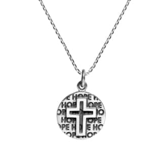 Beloved Cross of Hope .925 Sterling Silver Necklace (Thailand)