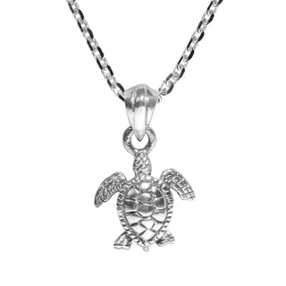 Lovely Lucky Sea Turtle .925 Sterling Silver Necklace (Thailand)