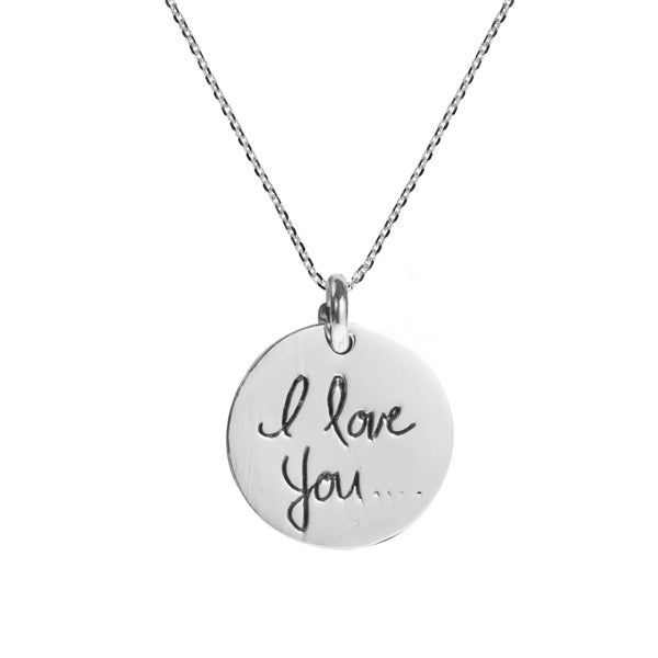 Sweet Scribble I Love you Message .925 Silver Necklace (Thailand)
