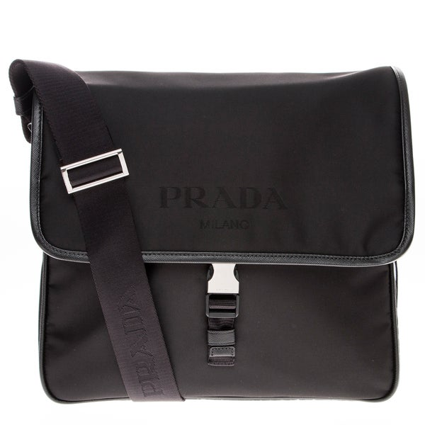 Prada Nylon Flap Messenger
