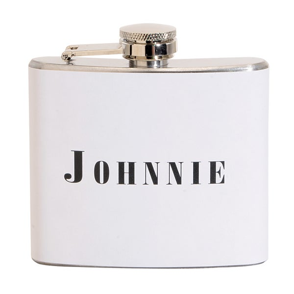 Johnnie Fun 5-ounce White Party Flask