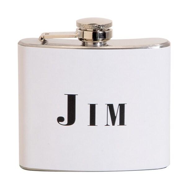 Jim Fun 5-ounce White Party Flask
