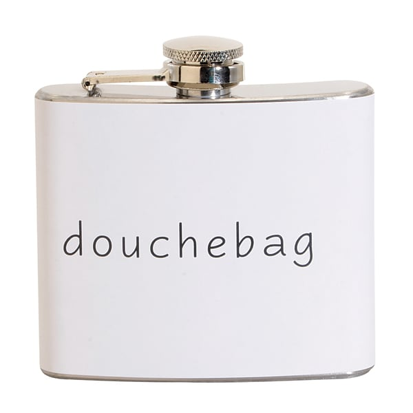 Douchebag Fun 5-ounce White Party Flask