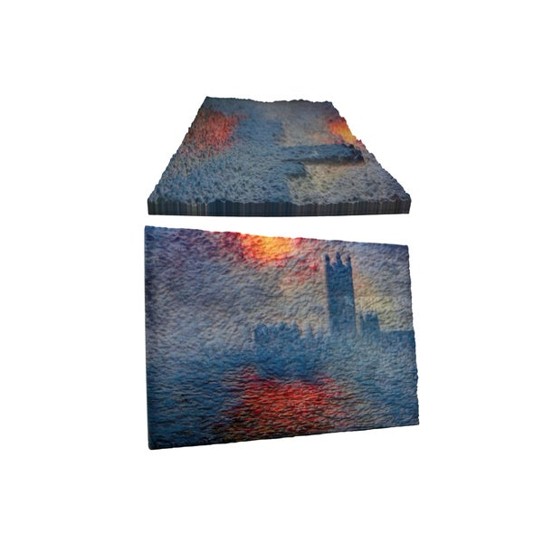Claude Monet's 'Houses of Parliament' 3D Printed Art