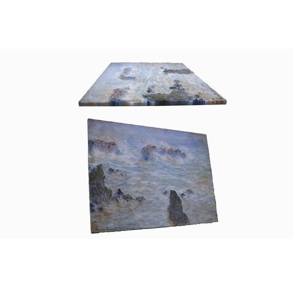 Claude Monet's 'Storm off the Coast of Belle-lle' 3D Printed Art