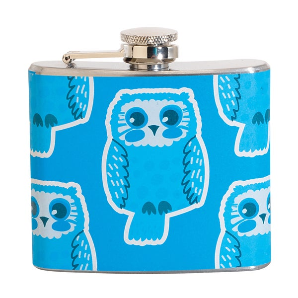 Blue Owl Fun 5-ounce Blue Party Flask