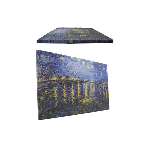 Vincent van Gogh 'Starry Night Over the Rhone ' 3D Printed Art