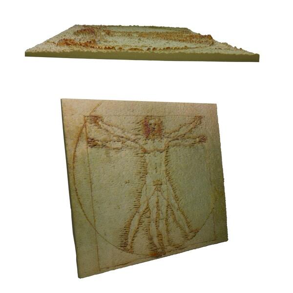 Leonardo da Vinci 'Vitruvian Man' 3D Printed Art