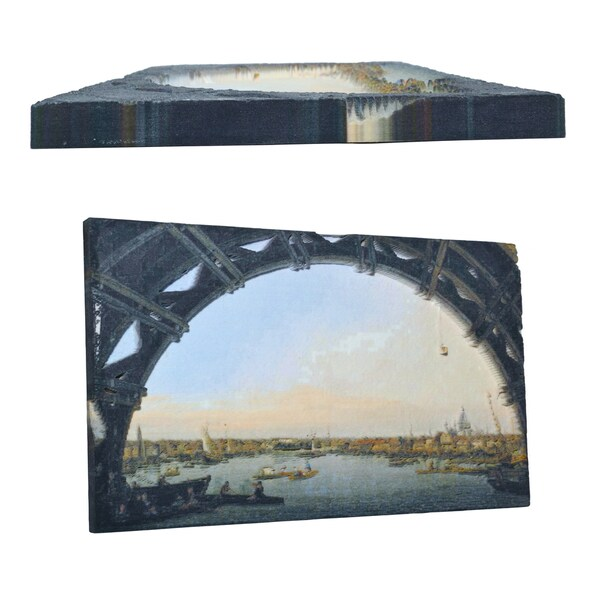 Canaletto 'London: Seen Through an Arch of Westminster Bridge ' 3D Printed Art