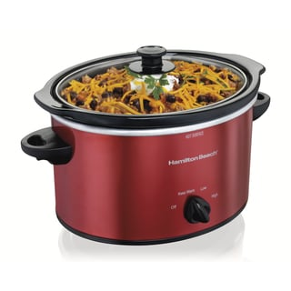 Hamilton Beach 33230 Red 3-Quart Slow Cooker