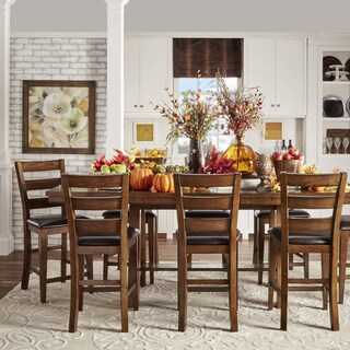 Bartol Warm Brown Mission Counter-height Extending Dining Set