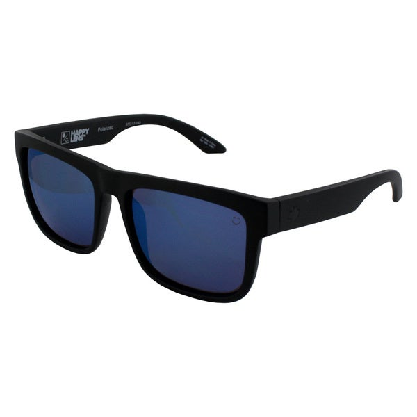 Spy Optic Unisex Discord Sunglasses Matte Black Polarized Blue Spectra Lens Sunglasses