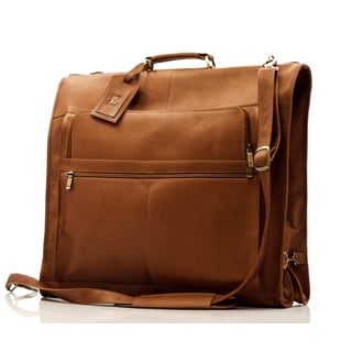 Muiska Vaquetta Leather Havana Carry-all Garment Bag