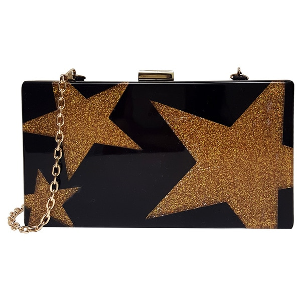 Pink Haley 'Gold Star' Clutch